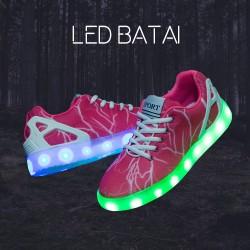 """Rožiniai LED batai """"žaibas"""""""