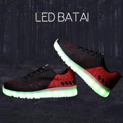 Tamsiai mėlyni/raudoni LED batai