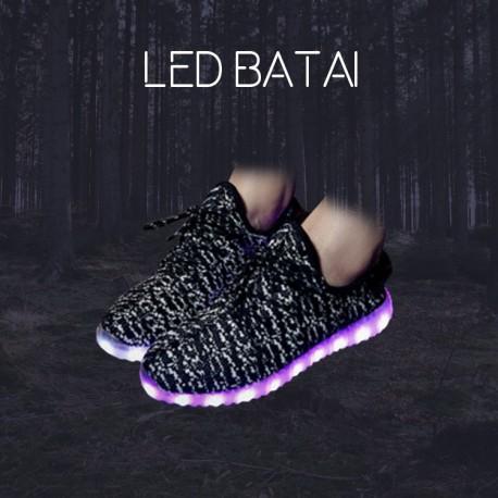 Juodai balti LED batai