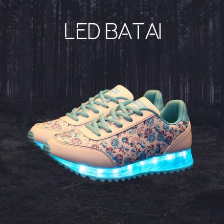 Žydri LED batai FLOWERS