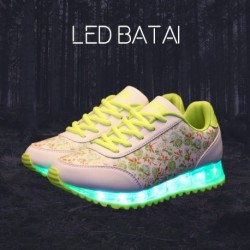 Žali LED batai FLOWERS
