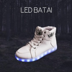 Balti LED batai KING