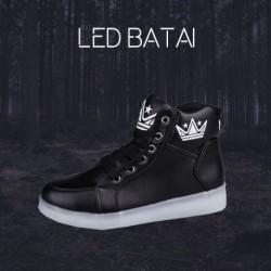 Juodi LED batai KING