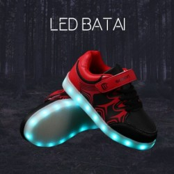Juodai raudoni LED batai