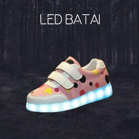 Rožiniai LED batai DOT