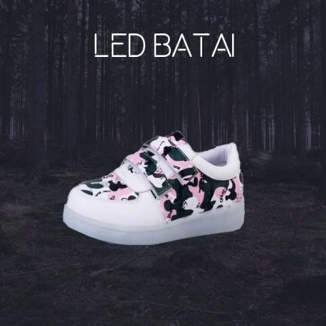 Rožiniai LED batai MOZAIKA