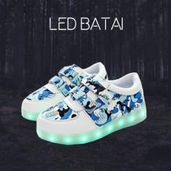 Mėlyni LED batai MOZAIKA