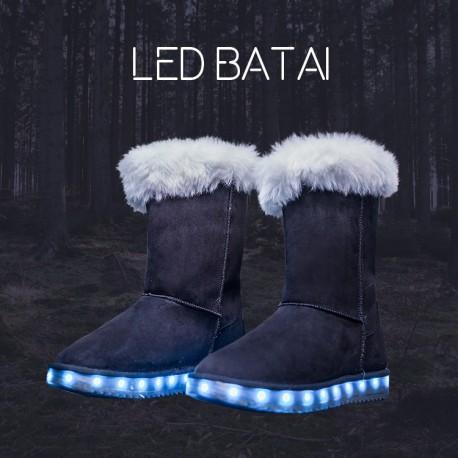Žieminiai juodi LED batai
