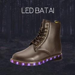 Žieminiai rudi LED batai