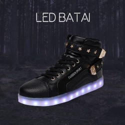 Juodi LED batai Fashion Sport