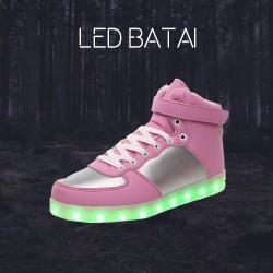 Šviesiai rožiniai LED batai