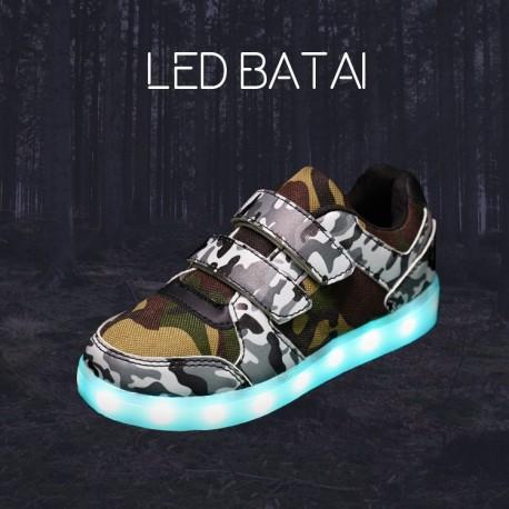 Kamufliažiniai LED batai