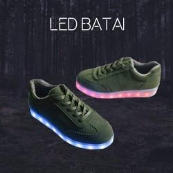 Tamsiai žali LED batai