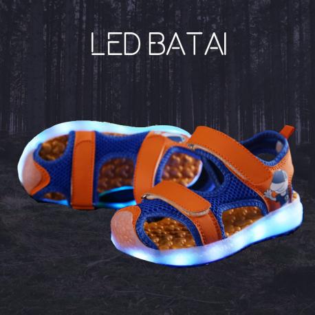 Oranžinės LED basutės