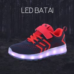 Tamsiai mėlyni LED batai