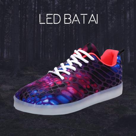 Violetiniai LED batai