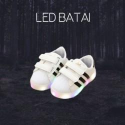 Balti LED batai STRIPES