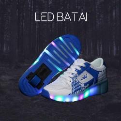 Balti ir mėlyni LED batai