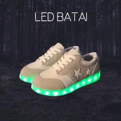 Smėlio spalvos LED batai
