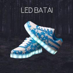 Mėlyni LED batai su žvaigždutėmis