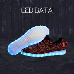 Raudonai juodi LED batai