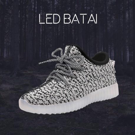 Šviesiai pilki LED batai