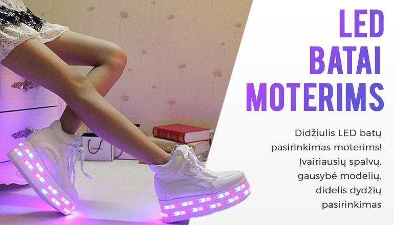 LED batai moterims