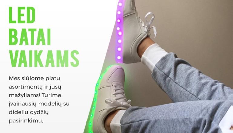 LED batai vaikams